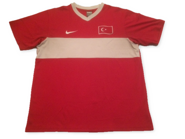 red nike Turkey 2008-10 Home football Shirt