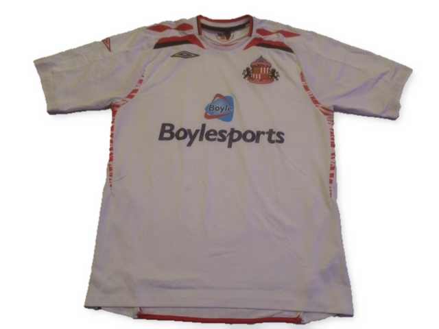 white umbro Sunderland 2007-08 Away football Shirt