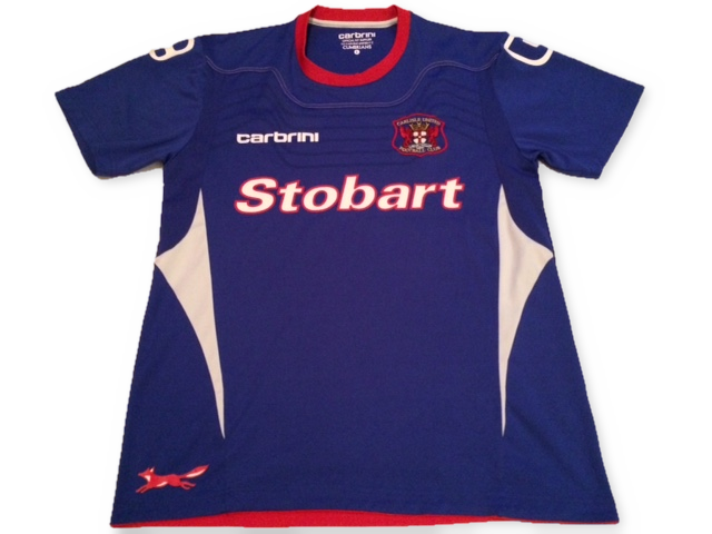 blue carbrini Carlisle United 2011-12 Home football Shirt