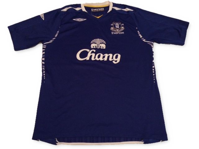 blue umbro Everton 2007-08 Home football Shirt