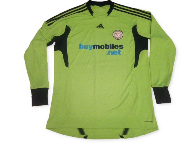 green adidas Derby County 2011-12 football Goalkeepers Shirt