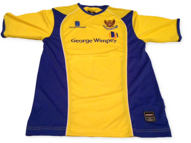 yellow surridge St. Johnstone 2007-08 Away football Shirt