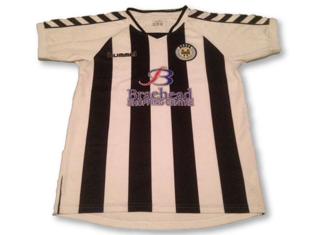 white & black hummel St Mirren 2007-08 Home football Shirt