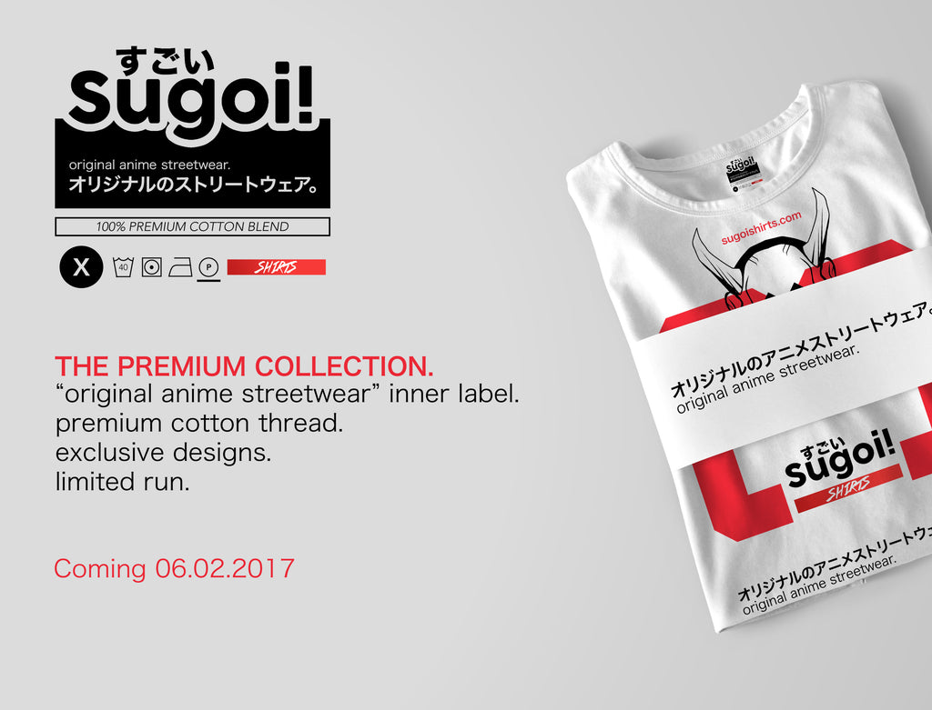Sugoi Shirts Premium Anime Tee Collection