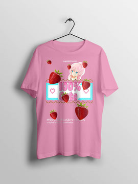 Ultra Kawaii Strawberry Cute Pink Anime T Shirt