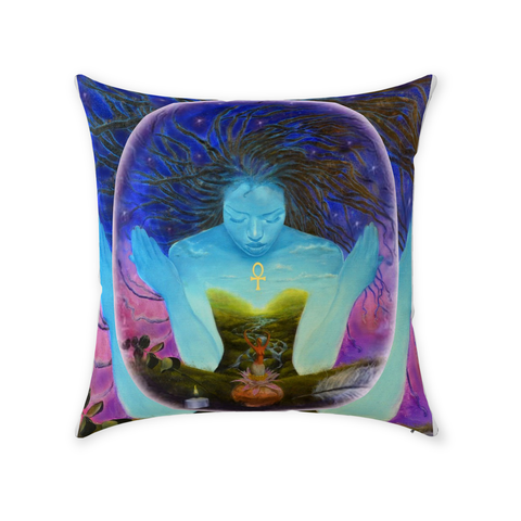 Sacred Woman Spirit Throw Pillows