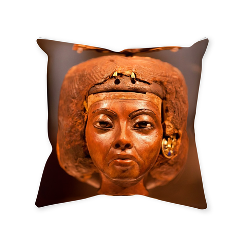 Queen Tiye Throw Pillows