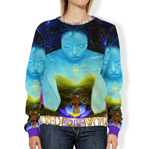 Sacred Woman 20th Anniversary All-Over Print Sweatshirt
