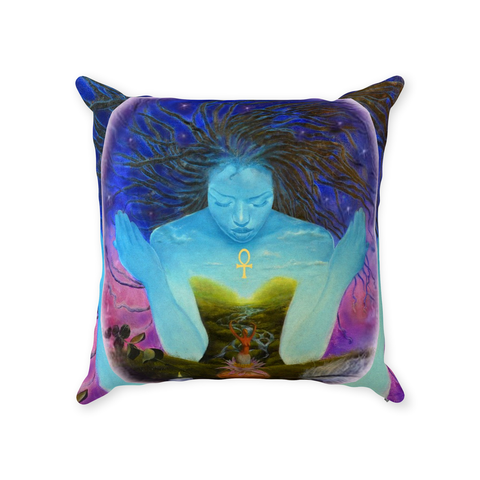 Sacred Woman Throw Pillows