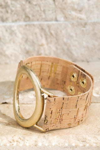 Oval and Cork Bracelet
