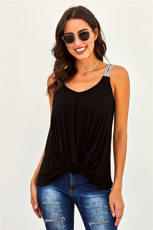 Black Twist Tank Top