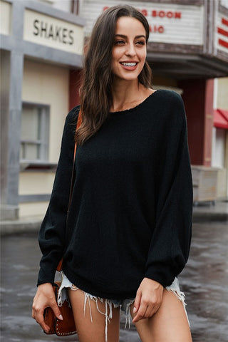 Black Dolman Sleeve Sweater