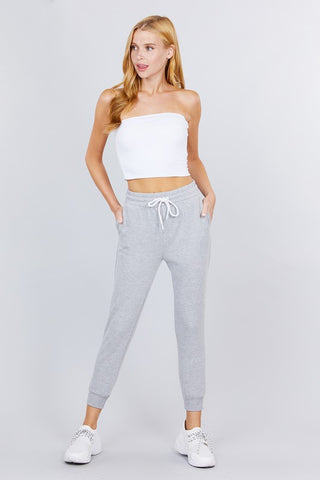 Heather Grey Capri Joggers