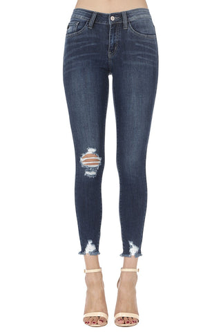 One Knee Distressed Jeans