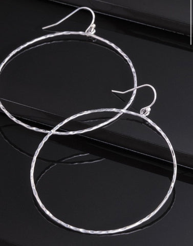 Hammered Metal Hoops