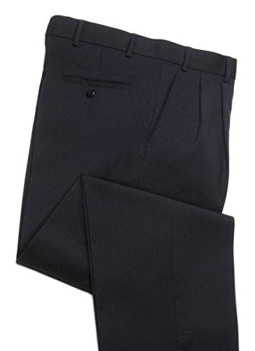Knightsbridge Stretch Wool Dress Pants, Resists Wrinkles, Lined, 2 Pleats - For Men
