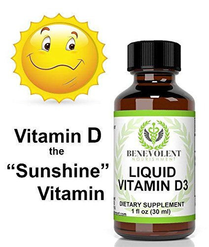 Liquid Vitamin D3 5000 IU (1 oz) - Benevolent Nourishment Shop