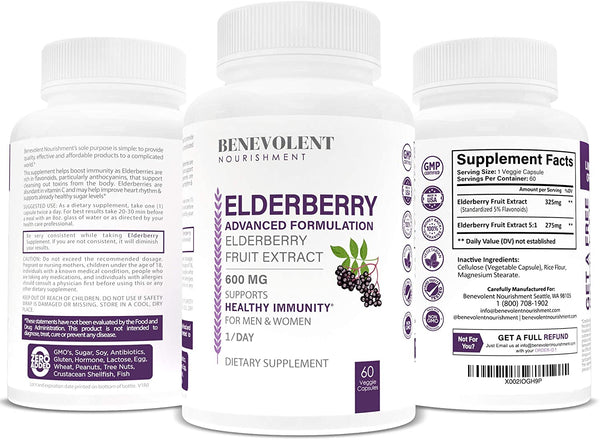 Black Elderberry Supplement 60 Veggie Caps