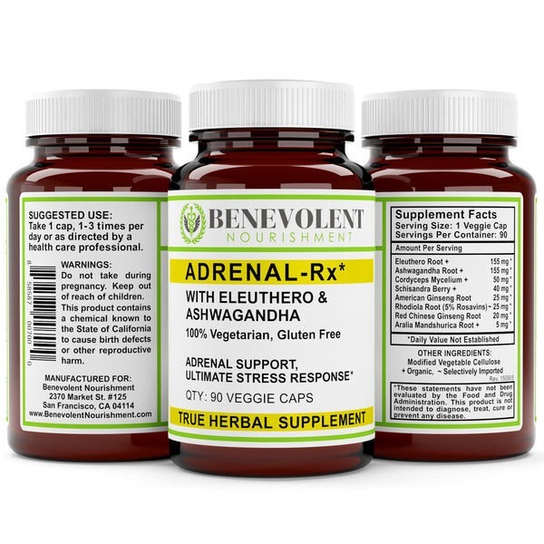 Adrenal-Rx With Eleuthero and Ashwagandha 90 Veggie Caps