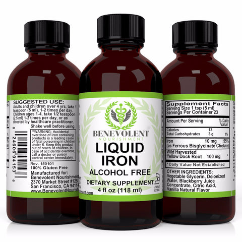 Liquid Iron (4 oz) - Benevolent Nourishment Shop