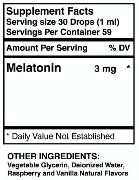 Liquid Melatonin 3MG (2 oz) - Benevolent Nourishment Shop