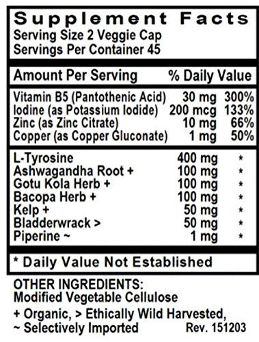 Thyroid-Rx With L-Tyrosine and Iodine 90 Veggie Caps - Benevolent Nourishment Shop