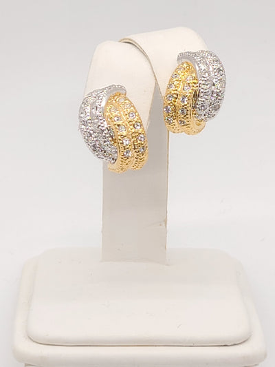 Annaleece Silver and Gold Plated Twist Earrings - #shop_name