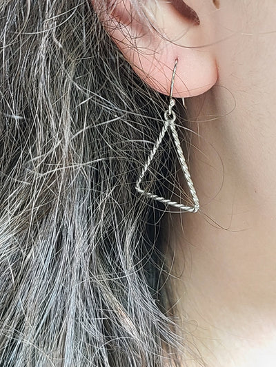 Annaleece Silver Plated Triangle Wire Earrings - #shop_name