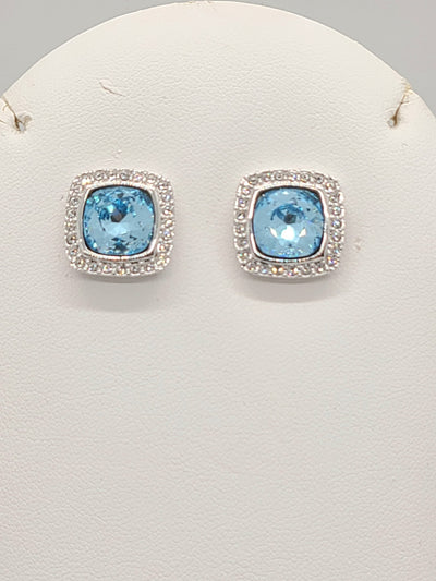Annaleece Swarovski Blue Earrings - #shop_name
