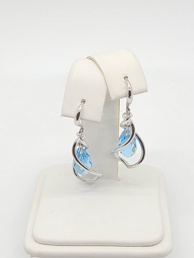 Gentle Breeze Blue Swarovski Earrings - #shop_name