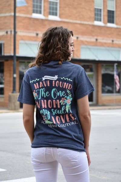 I Have Found The One Who My Soul Loves - Graphic Tee - Purple Dot Fashion