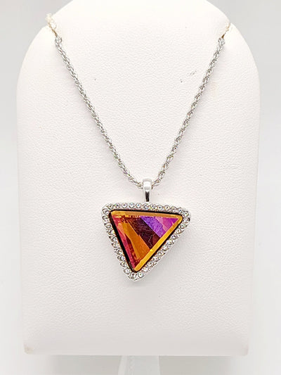 Lisa Triangle Iridescent Topaz Necklace - #shop_name