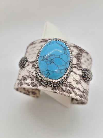 Print Cuff With Turquoise Bracelet - #shop_name