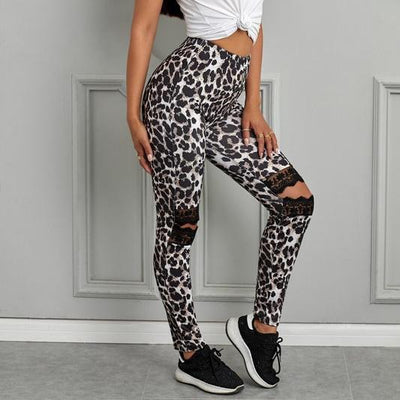 READY TO SHIP Dancing With A Stranger Printed Laced Leggings - #shop_name