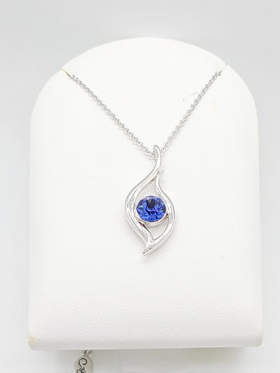 Royal Blue Silver Plated Necklace - #shop_name