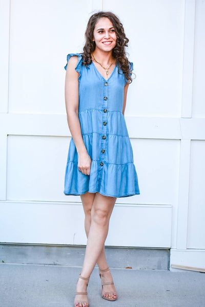 Still The One Denim Swing Dress - #shop_name