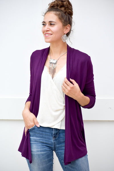 Win My War Plum Cardigan - #shop_name