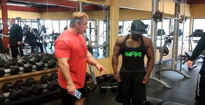 IFBB Pro Terrence Ruffin Training with the Mountain dog John Meadows