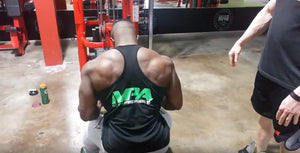 IFBB Pro Terrence Ruffin trains back at the MI40 Gym