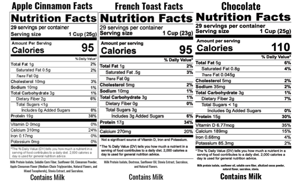 Iso Poofs protein cereal nutrition facts