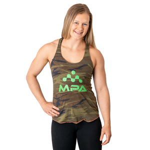 Women's Racer Back Camo Tank Top - MPA Supps