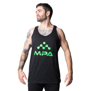 Men's Black Jersey Tank Top