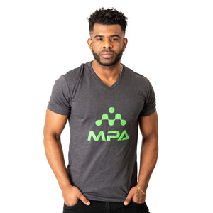 Men's Triblend V-Neck Vintage Black - MPA Supps