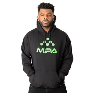 Black Unisex pull over hoodie - MPA Supps