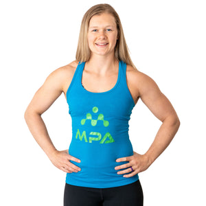 Womens Turquoise Razor Back Tank Top - MPA Supps