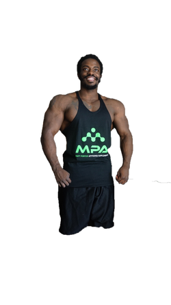 MPA Supps Black Stringer Tank Top