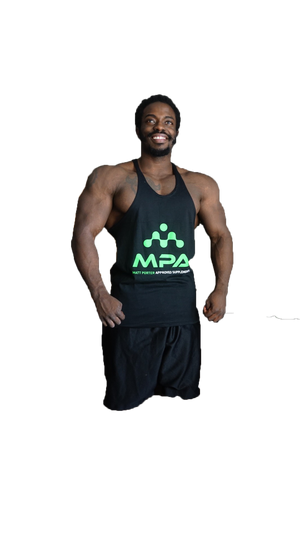 Men's Black Stringer - MPA Supps