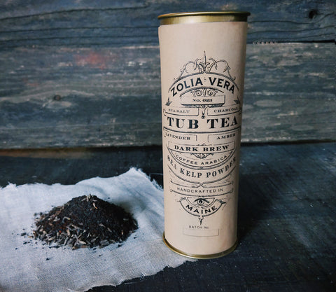 Tub Tea | Dark Brew | Charcoal, Lavender, Amber, Coffee
