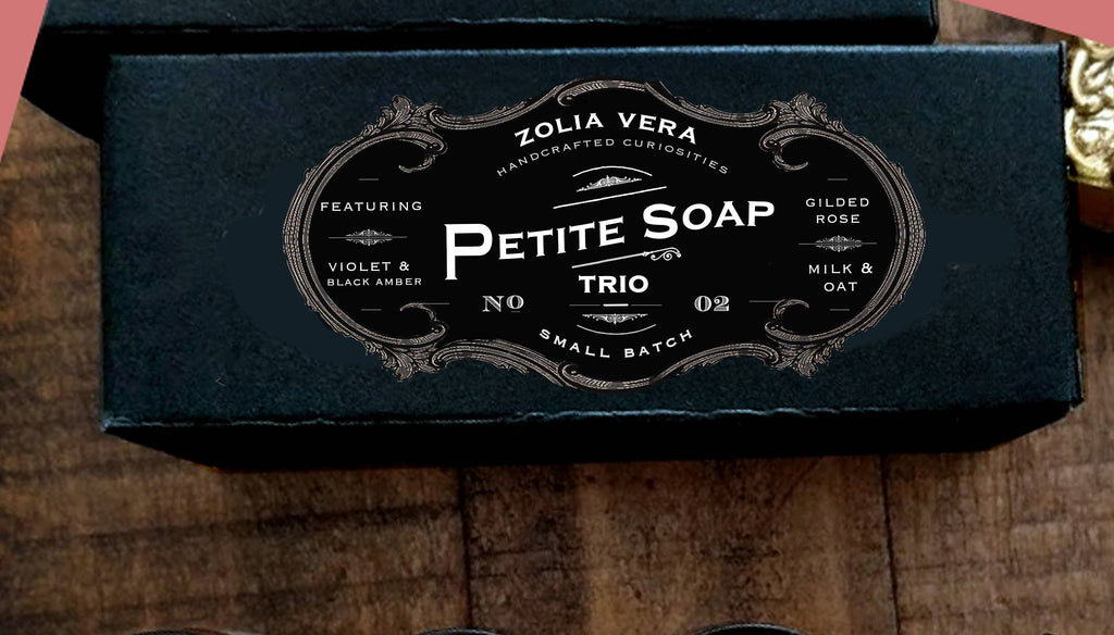 Petite Soap Trio 02 | Gilded Rose, Violet, Milk & Oat Bar