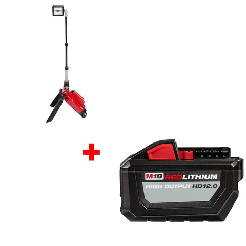 Milwaukee 2120-20 M18 Tower Light w/ FREE 48-11-1812 M18 HD12.0 Battery Pack